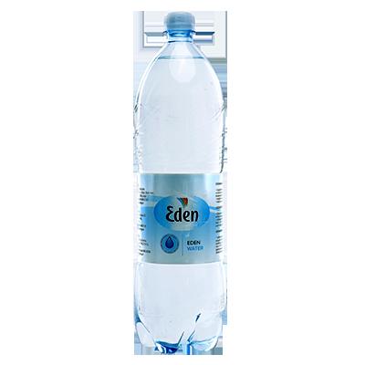 Eden dzeramais ūdens (negāzēts) PET pudelē, tilpums 1,5l. Eden PET pudelēs ir pildīts no avota iegūts ūdens. Iepakojumā 6 pudeles.